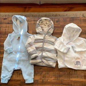 Other - 3 hooded baby sweatshirts